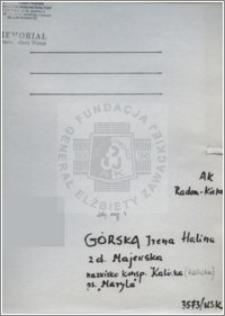Górska Halina Irena