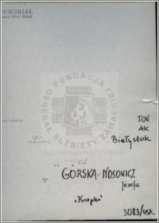 Górska-Nosowicz Józefa