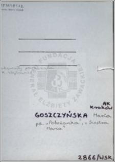 Goszczyńska Maria