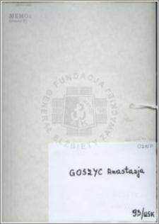 Goszyc Anastazja