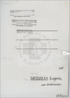 Grodzicka Eugenia