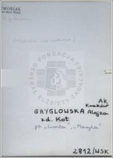 Gryglowska Alojza