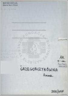 Grzegorczykówna Anna