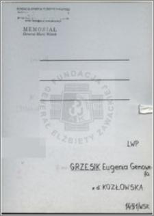 Grzesik Eugenia Genowefa