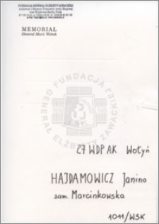Hajdamowicz Janina
