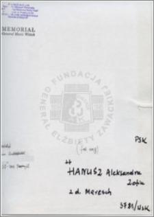 Hanusz Aleksandra Zofia