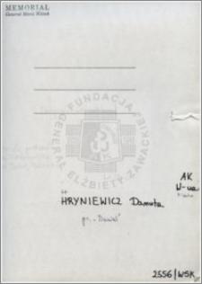 Hryniewicz Danuta