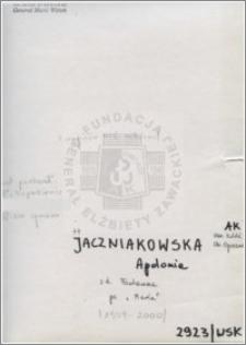 Jaczniakowska Apolonia
