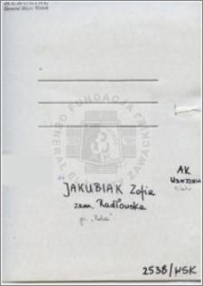 Jakubiak Zofia