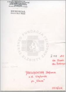 Jakubowska Stefania