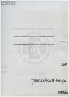 Janczyńska Felicja