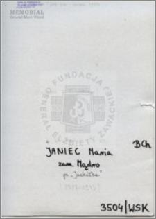 Janiec Maria
