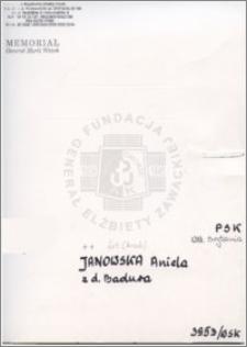 Janowska Aniela
