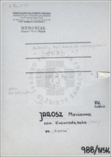 Jarosz Marianna