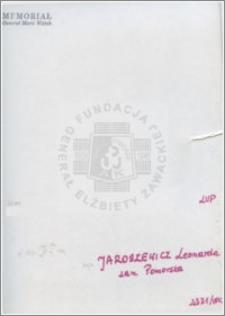 Jaroszewicz Leonarda