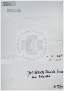 Jasińska Daniela Irena