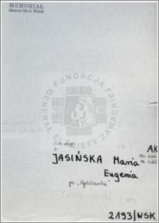Jasińska Maria Eugenia