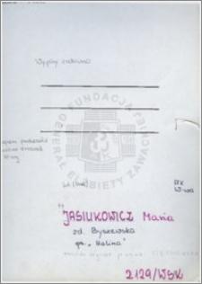 Jasiukowicz Maria