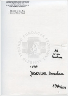 Jaskulak Bronisława