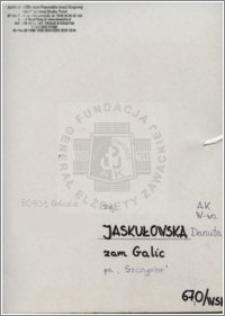 Jaskułowska Danuta