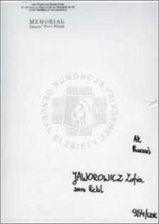 Jaworowicz Zofia