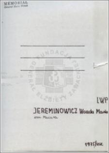 Jereminowicz Wanda Maria