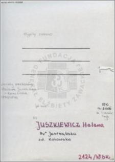 Juszkiewicz Helena