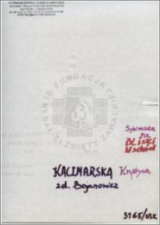 Kaczmarska Krystyna