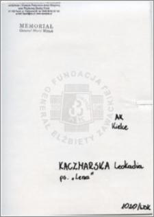 Kaczmarska Leokadia