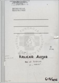 Kalicka Alojza