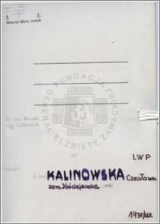 Kalinowska Czesława
