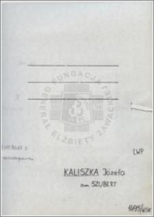 Kaliszka Józefa