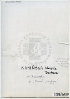 Kamińska Natalia Barbara