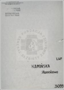 Kamińska Stanisława