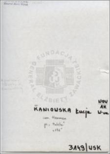 Kaniowska Łucja