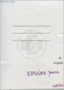 Kapuśnik Janina