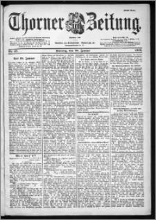 Thorner Zeitung 1901, Nr. 17 Erstes Blatt