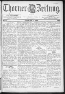 Thorner Zeitung 1901, Nr. 87 Erstes Blatt