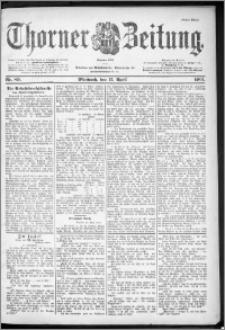 Thorner Zeitung 1901, Nr. 89 Erstes Blatt