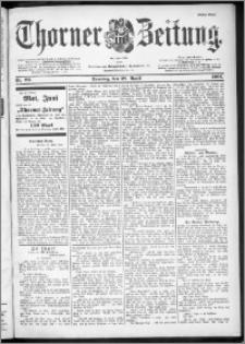 Thorner Zeitung 1901, Nr. 99 Erstes Blatt + Beilage - Fahrplan