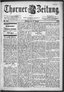 Thorner Zeitung 1901, Nr. 200 Erstes Blatt