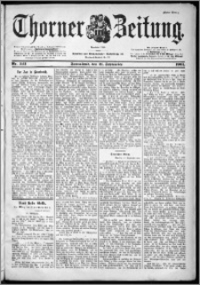Thorner Zeitung 1901, Nr. 222 Erstes Blatt