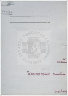 Kazimierczak Bronisława