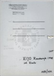 Kijo Konstancja