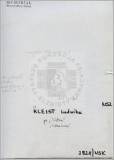 Kleist Ludwika