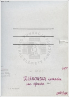 Klekowska Leokadia
