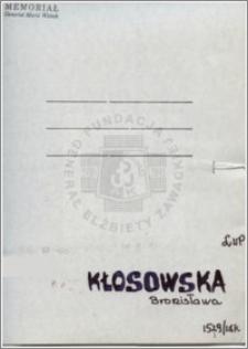 Kłosowska Bronisława