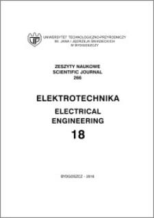 Zeszyty Naukowe. Elektrotechnika / Uniwersytet Technologiczno-Przyrodniczy im. Jana i Jędrzeja Śniadeckich w Bydgoszczy, z.18 (266), 2016