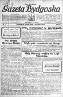 Gazeta Bydgoska 1926.01.01 R.5 nr 1