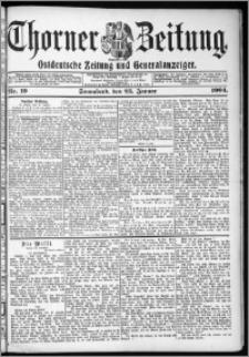 Thorner Zeitung 1904, Nr. 19 + Beilage